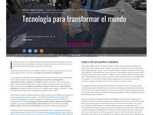 Tecnología para transformar el mundo El Independiente, 6/10/2018