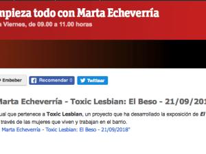 Hoy empieza todo con Marta Echeverría - Toxic Lesbian: El Beso Radio 3 21/09/2018