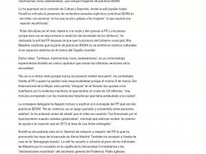 """Ahora Madrid aclara al PP que su gobierno financió el vídeo 'Tomboys, Marimachas, Bedesemeras', con imágenes BDSM"""" Europa press 17/03/2017"""